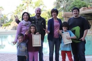 participants sub-8 amb pares i Albert Sanahuja